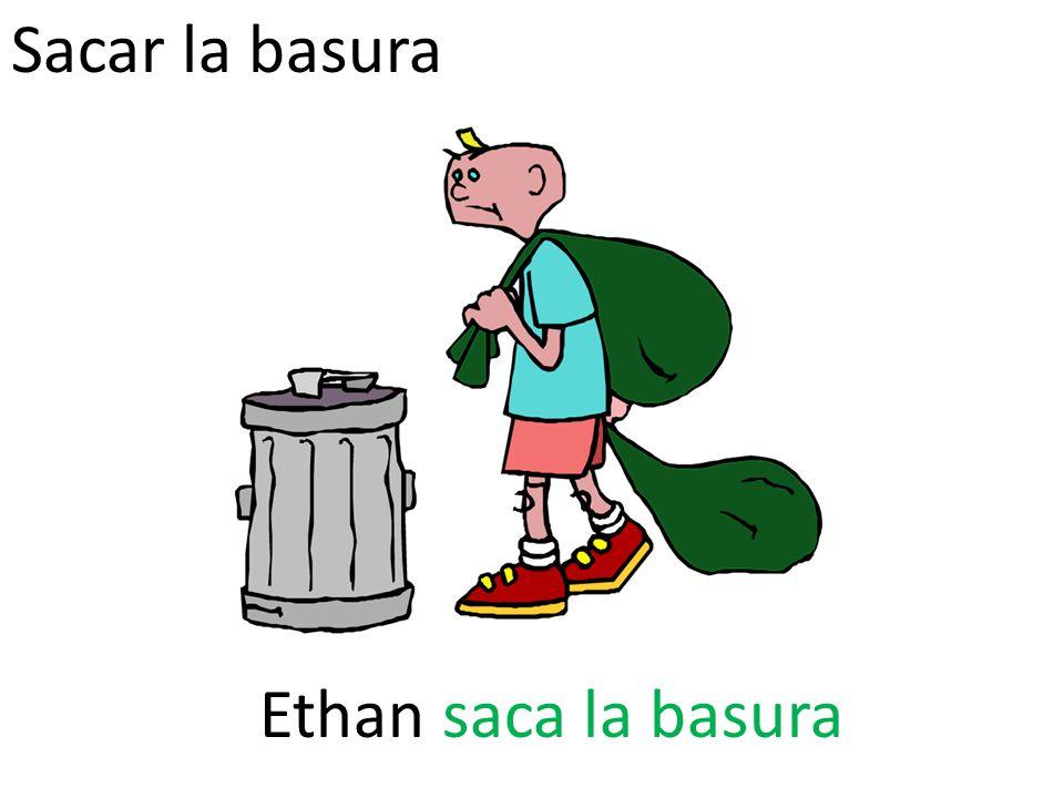Sacar la basura Ethan saca la basura