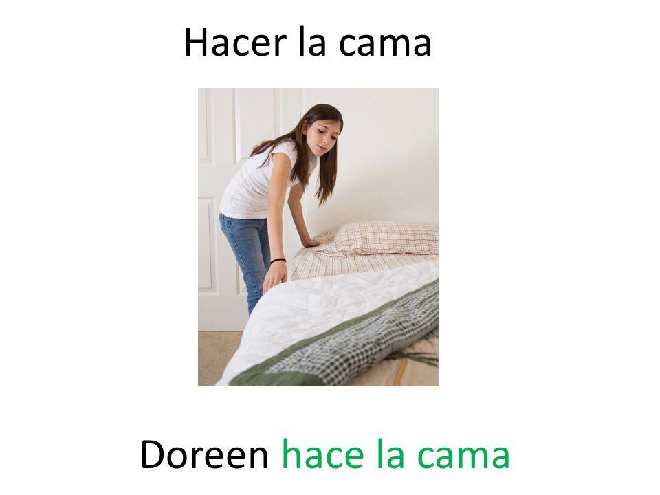 Hacer la cama Doreen hace la cama