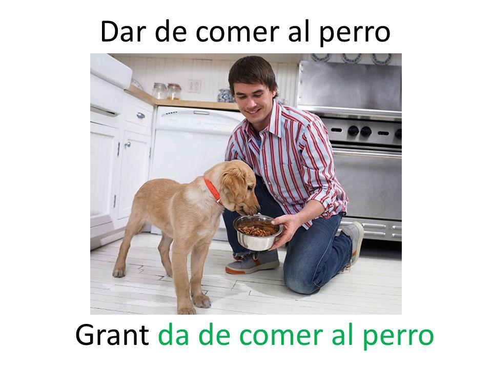 Dar de comer al perro Grant da de comer al perro