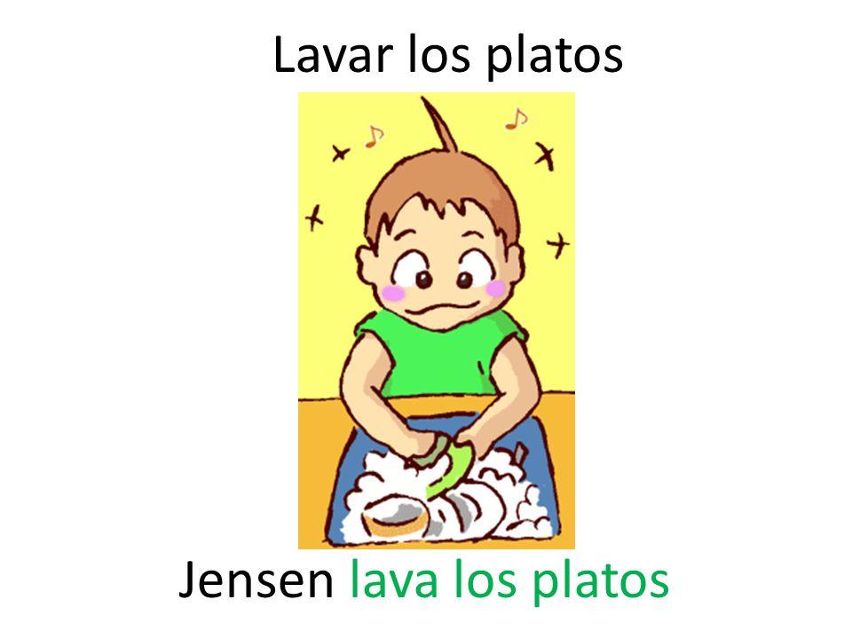Lavar los platos Jensen lava los platos
