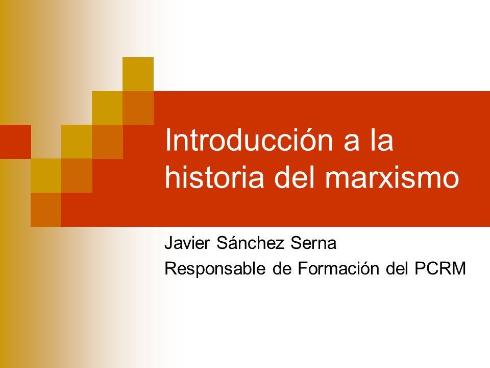 Introducción a la historia del marxismo