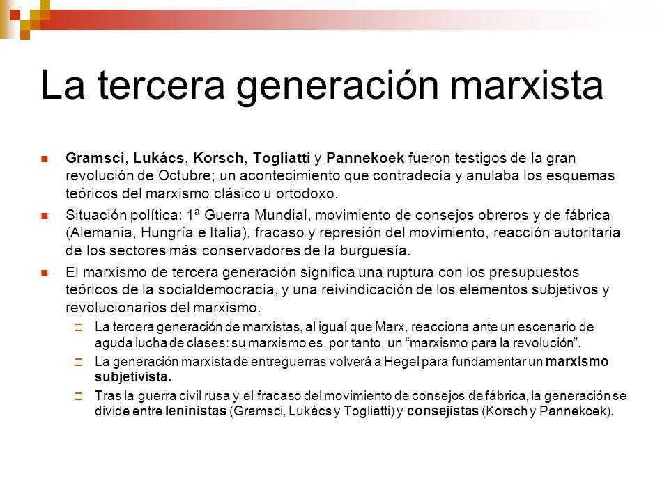 La tercera generación marxista