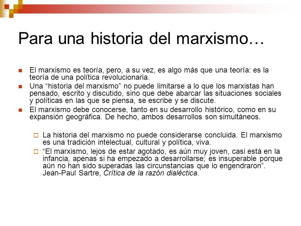 Para una historia del marxismo…