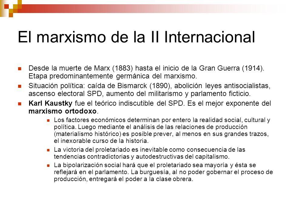 El marxismo de la II Internacional