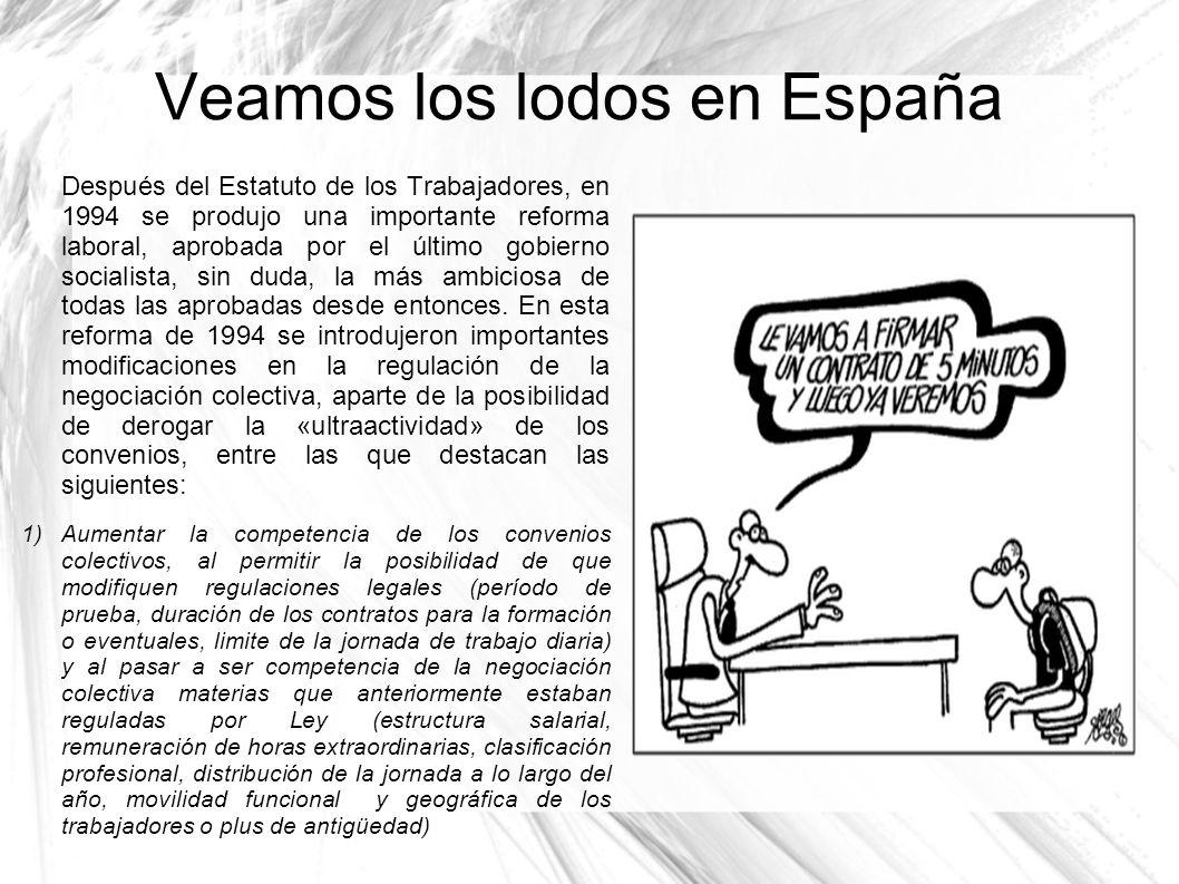 Veamos los lodos en España