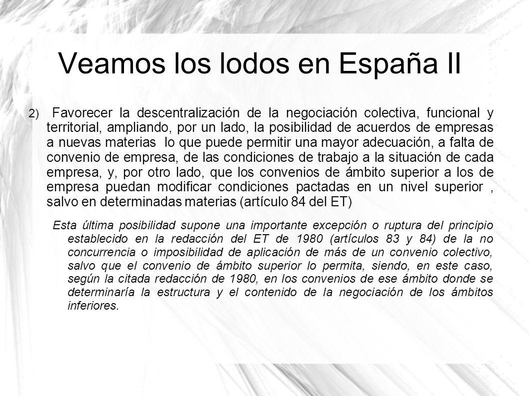 Veamos los lodos en España II