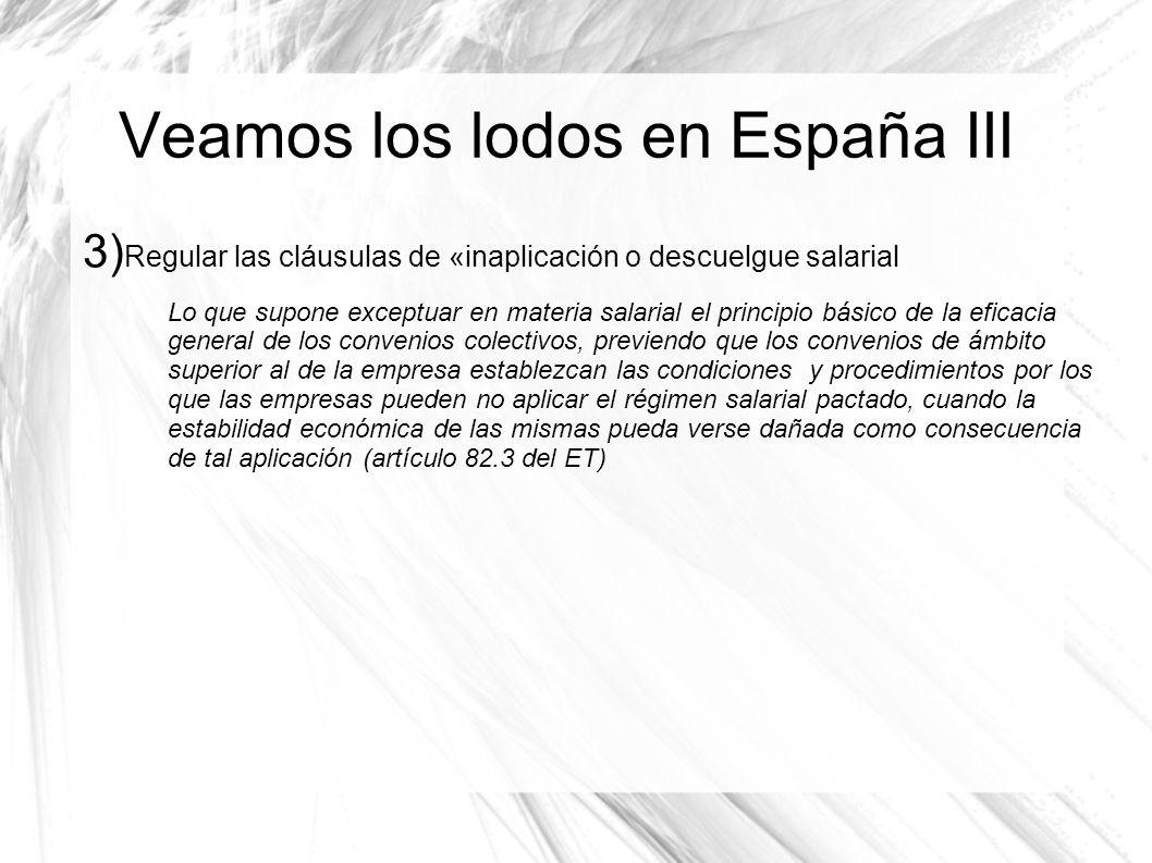 Veamos los lodos en España III