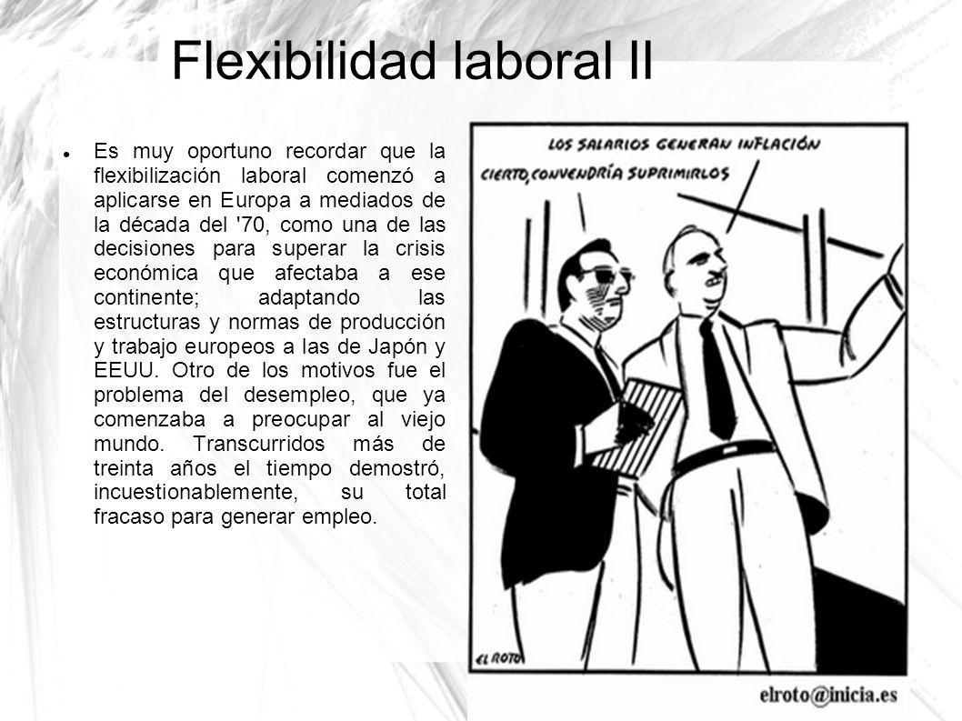 Flexibilidad laboral II