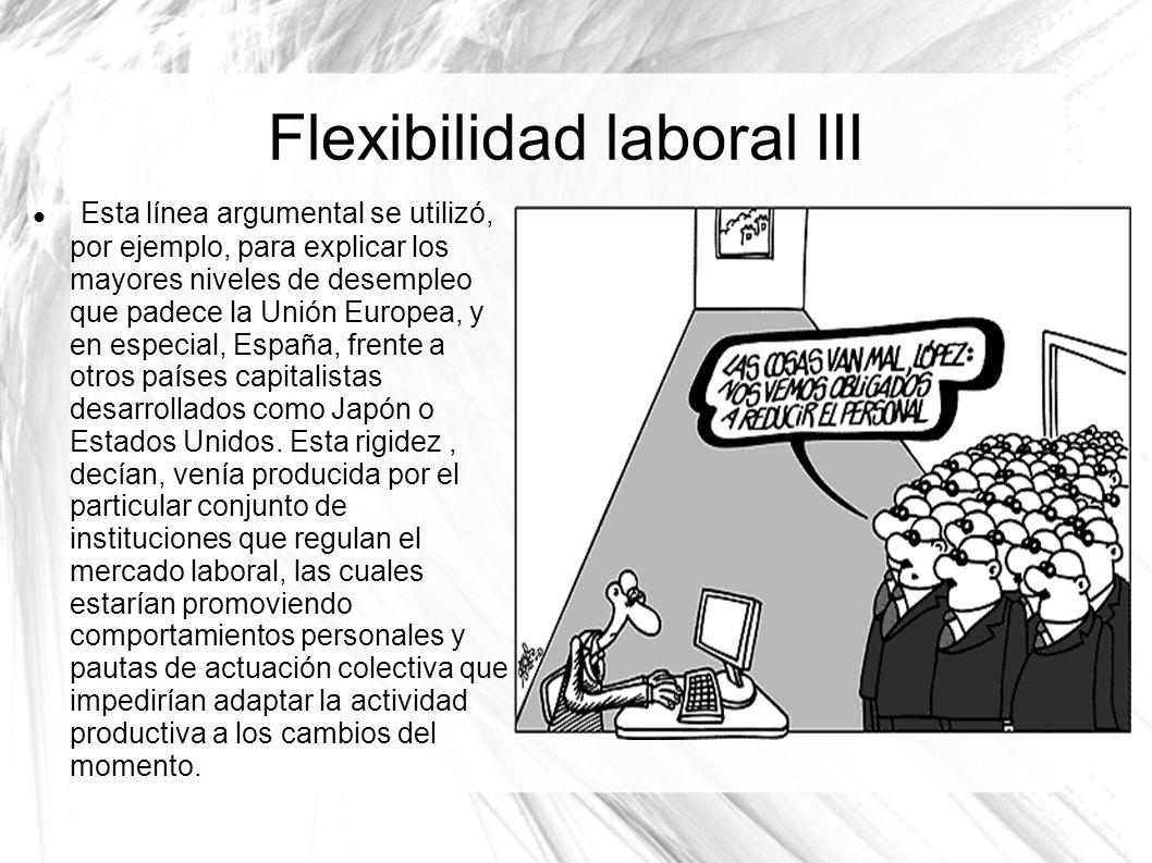 Flexibilidad laboral III