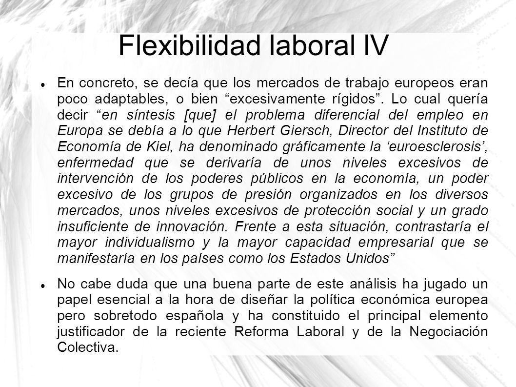 Flexibilidad laboral IV