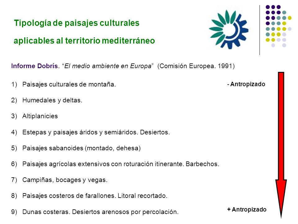 Tipología de paisajes culturales aplicables al territorio mediterráneo
