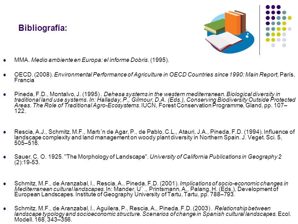 Bibliografía: MMA. Medio ambiente en Europa: el informe Dobris. (1995).