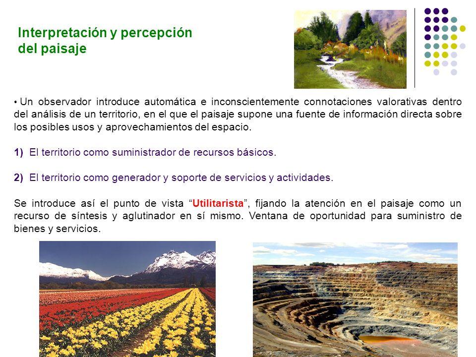 Interpretación y percepción del paisaje
