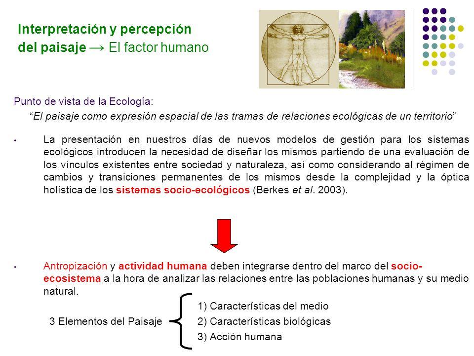 Interpretación y percepción del paisaje → El factor humano