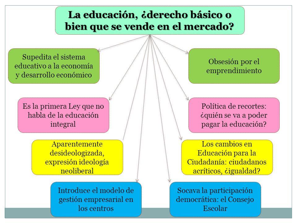 La educación, ¿derecho básico o bien que se vende en el mercado