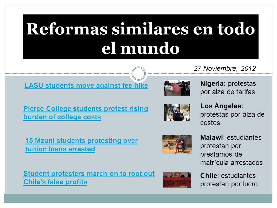 Reformas similares en todo el mundo