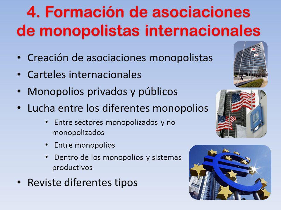 4. Formación de asociaciones de monopolistas internacionales