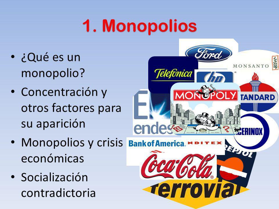 1. Monopolios ¿Qué es un monopolio