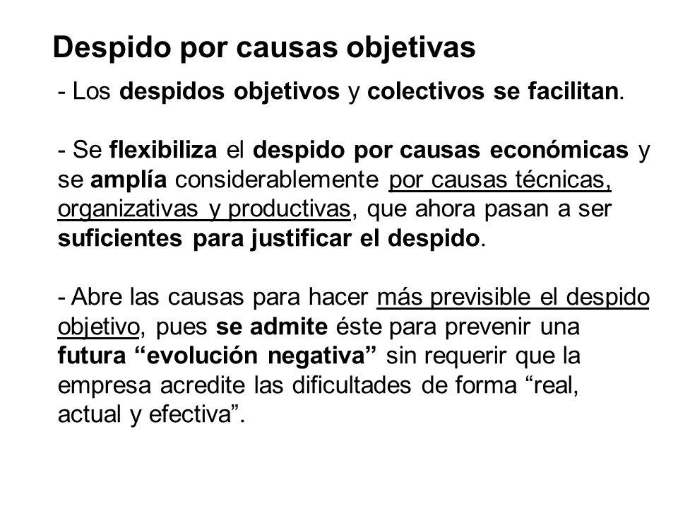 Despido por causas objetivas