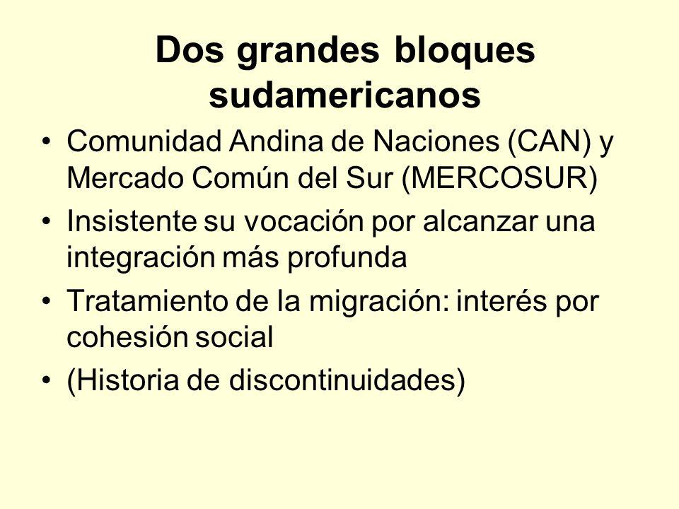 Dos grandes bloques sudamericanos