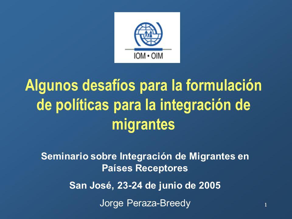 Seminario sobre Integración de Migrantes en Países Receptores