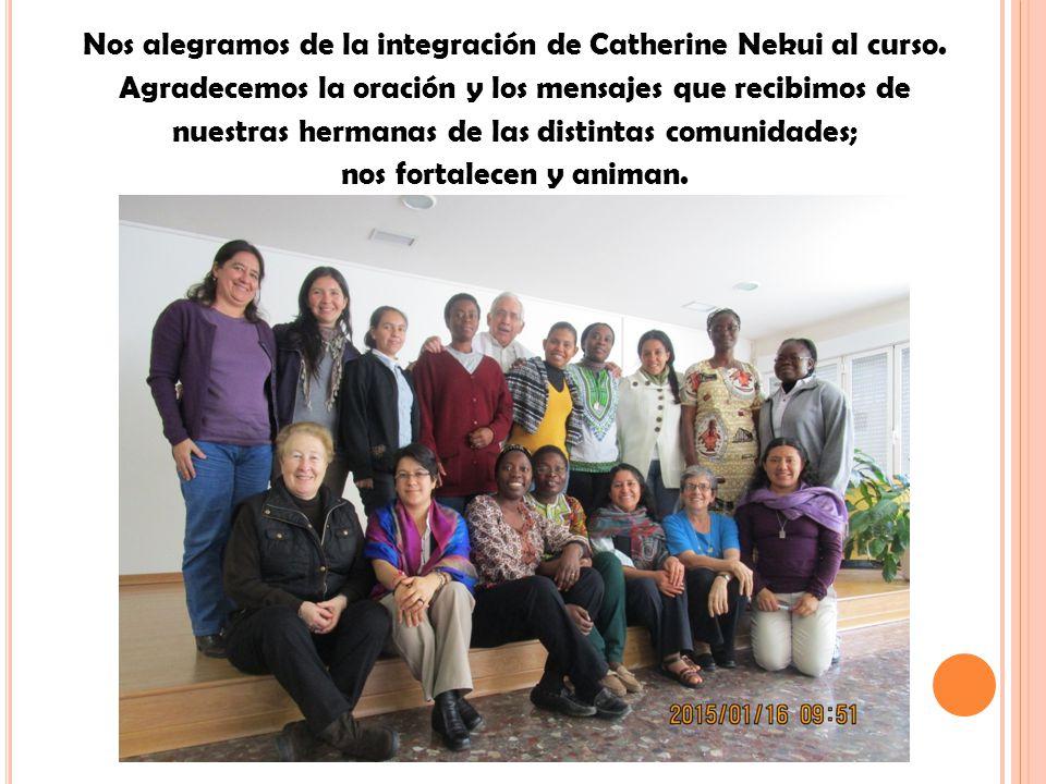 Nos alegramos de la integración de Catherine Nekui al curso