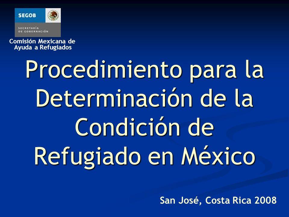 Procedimiento para la Determinación de la Condición de Refugiado en México