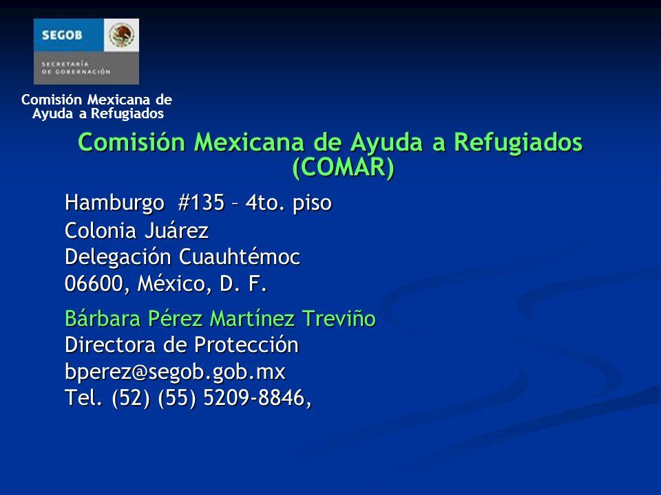 Comisión Mexicana de Ayuda a Refugiados (COMAR)
