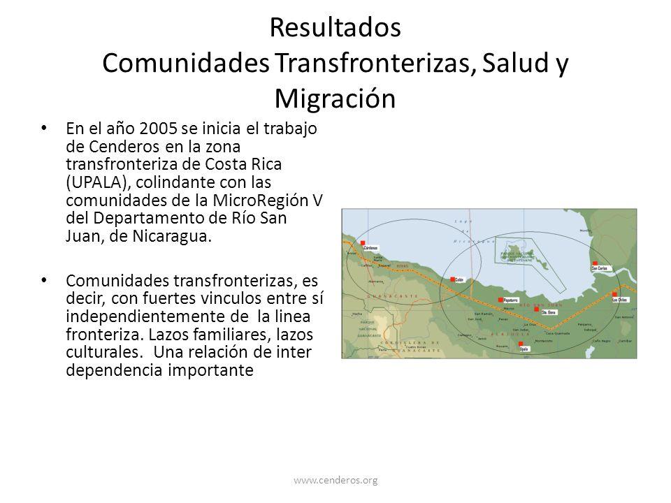 Resultados Comunidades Transfronterizas, Salud y Migración