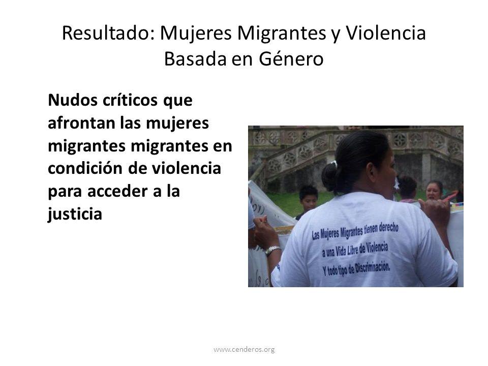 Resultado: Mujeres Migrantes y Violencia Basada en Género
