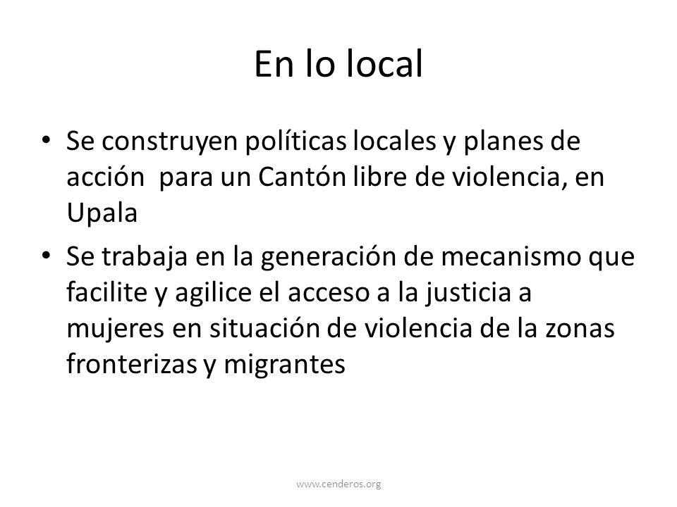 En lo local Se construyen políticas locales y planes de acción para un Cantón libre de violencia, en Upala.