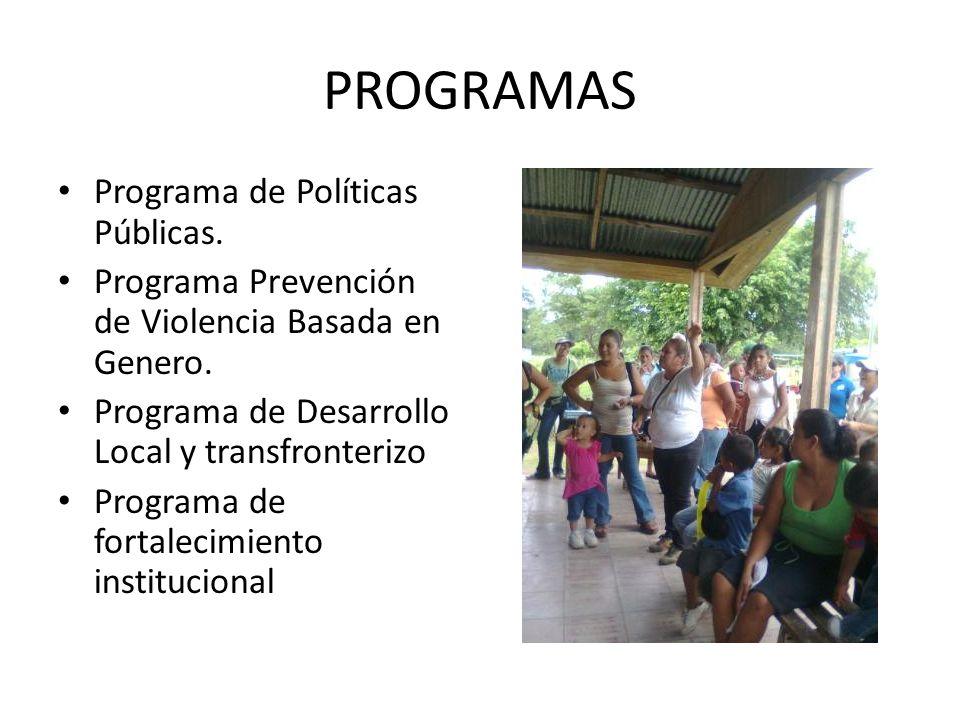 PROGRAMAS Programa de Políticas Públicas.