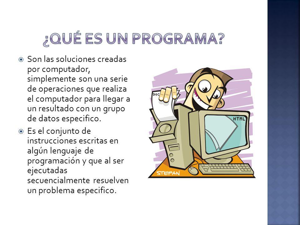 ¿Qué es un Programa