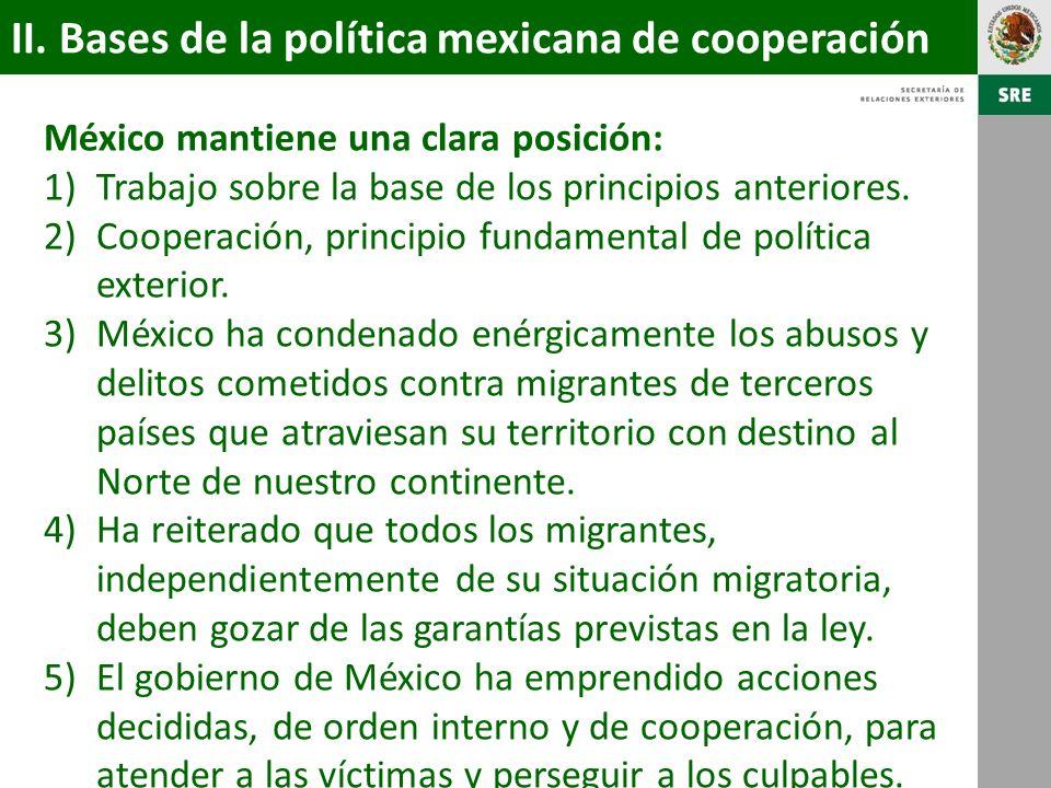 II. Bases de la política mexicana de cooperación