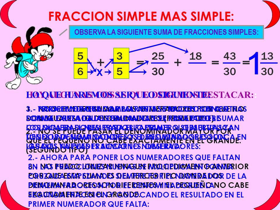 FRACCION SIMPLE MAS SIMPLE: