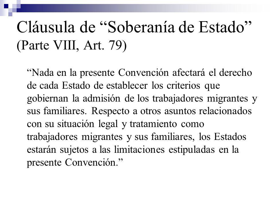 Cláusula de Soberanía de Estado (Parte VIII, Art. 79)