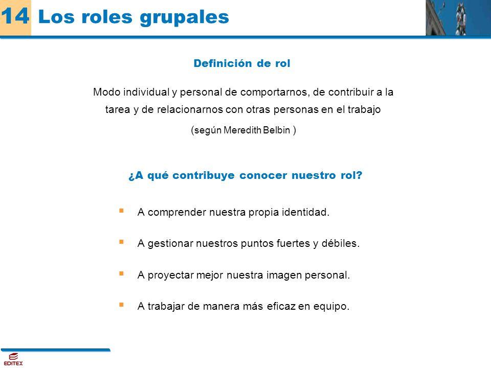 Los roles grupales Definición de rol