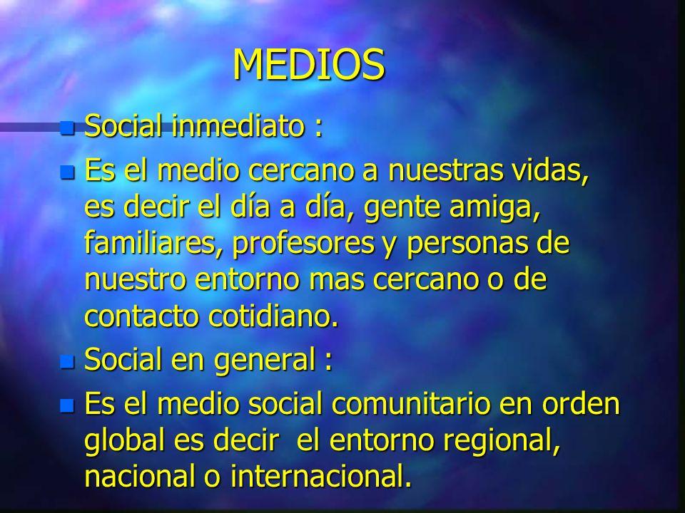 MEDIOS Social inmediato :