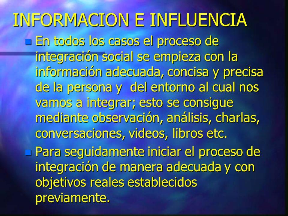 INFORMACION E INFLUENCIA