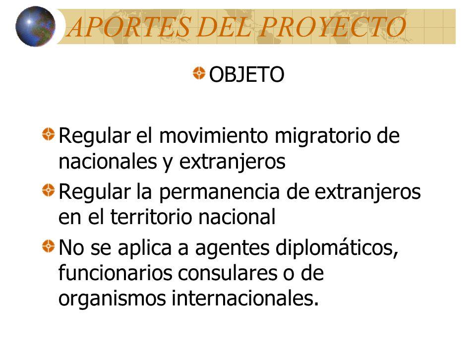 APORTES DEL PROYECTO OBJETO