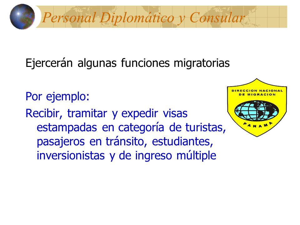 Personal Diplomático y Consular