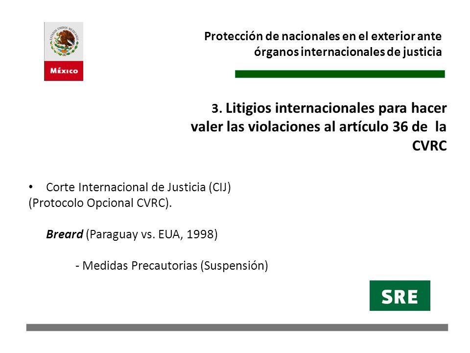 Protección de nacionales en el exterior ante órganos internacionales de justicia
