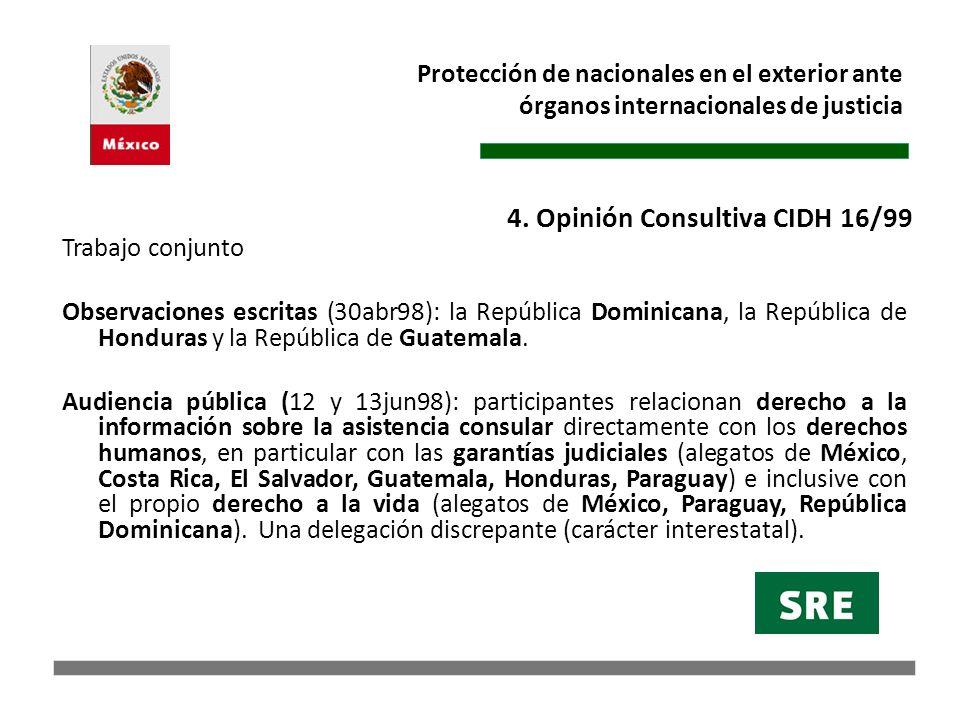 4. Opinión Consultiva CIDH 16/99