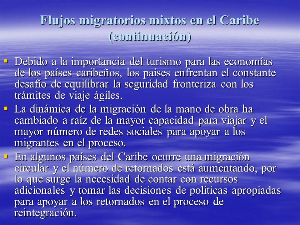 Flujos migratorios mixtos en el Caribe (continuación)
