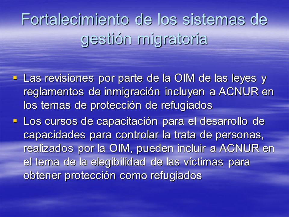 Fortalecimiento de los sistemas de gestión migratoria
