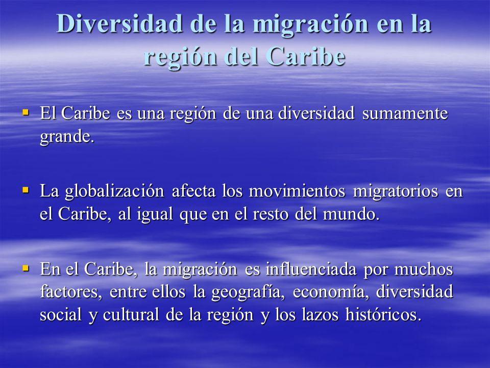 Diversidad de la migración en la región del Caribe