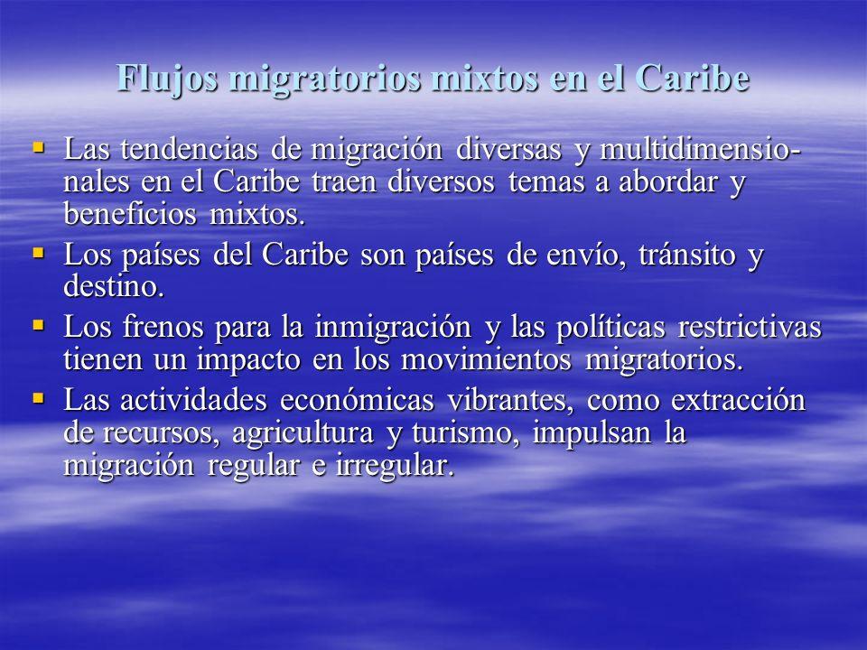 Flujos migratorios mixtos en el Caribe