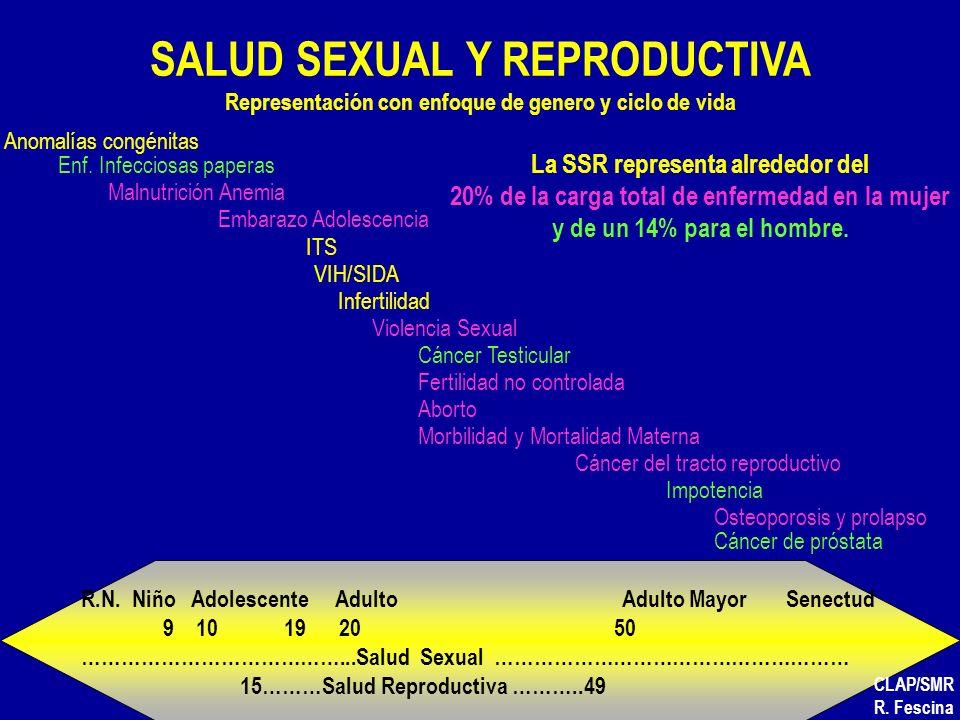 SALUD SEXUAL Y REPRODUCTIVA Representación con enfoque de genero y ciclo de vida