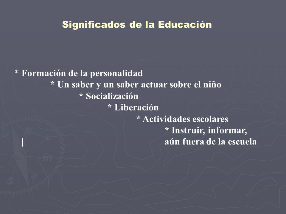 Significados de la Educación