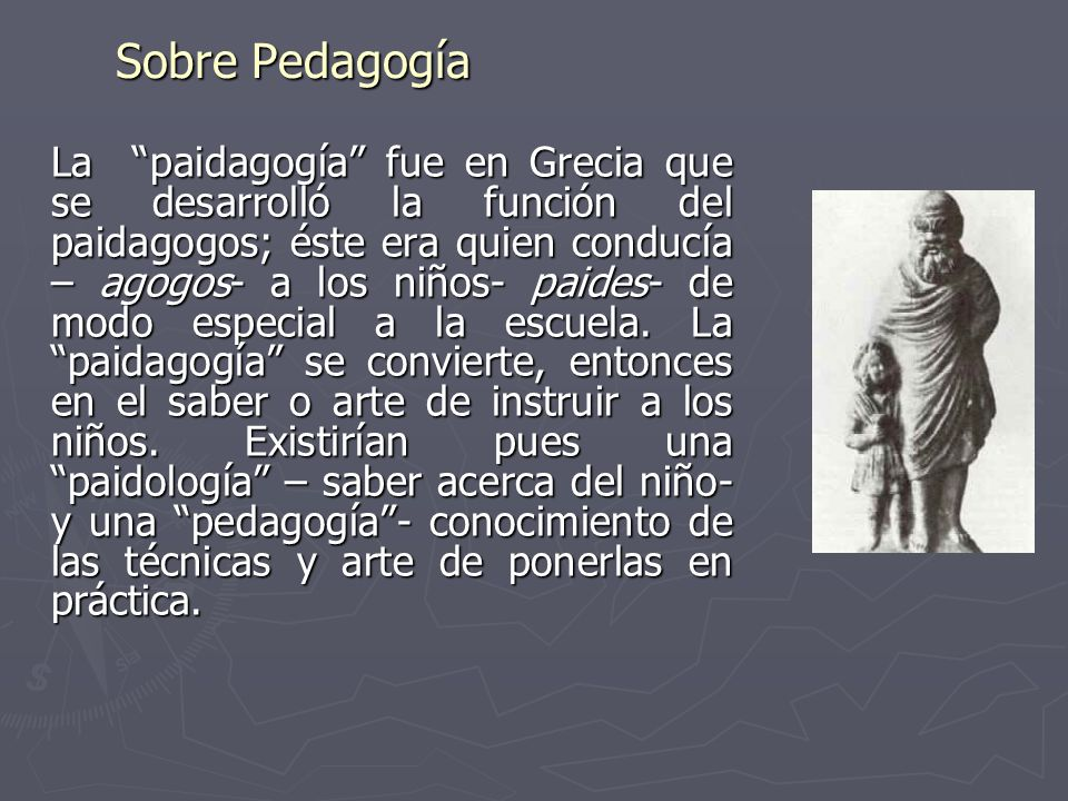 Sobre Pedagogía